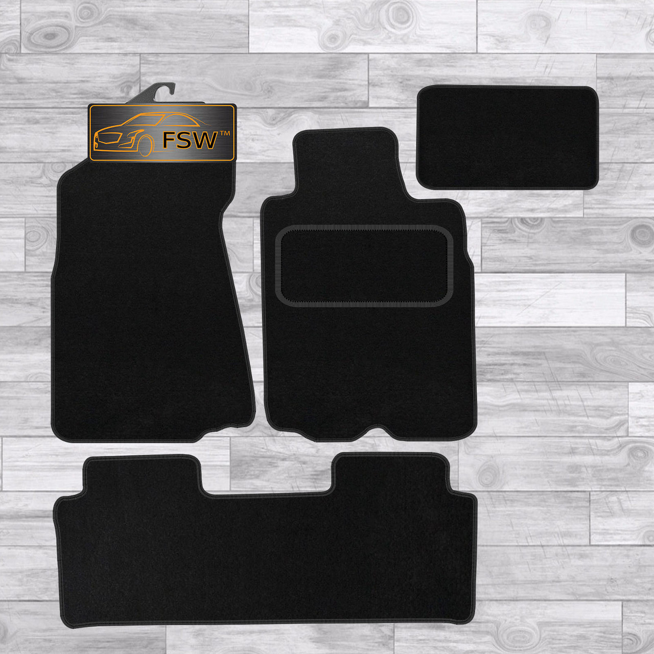 Honda Crv 2002-2006 Black Tailored Floor Car Mats Carpet //Rubber