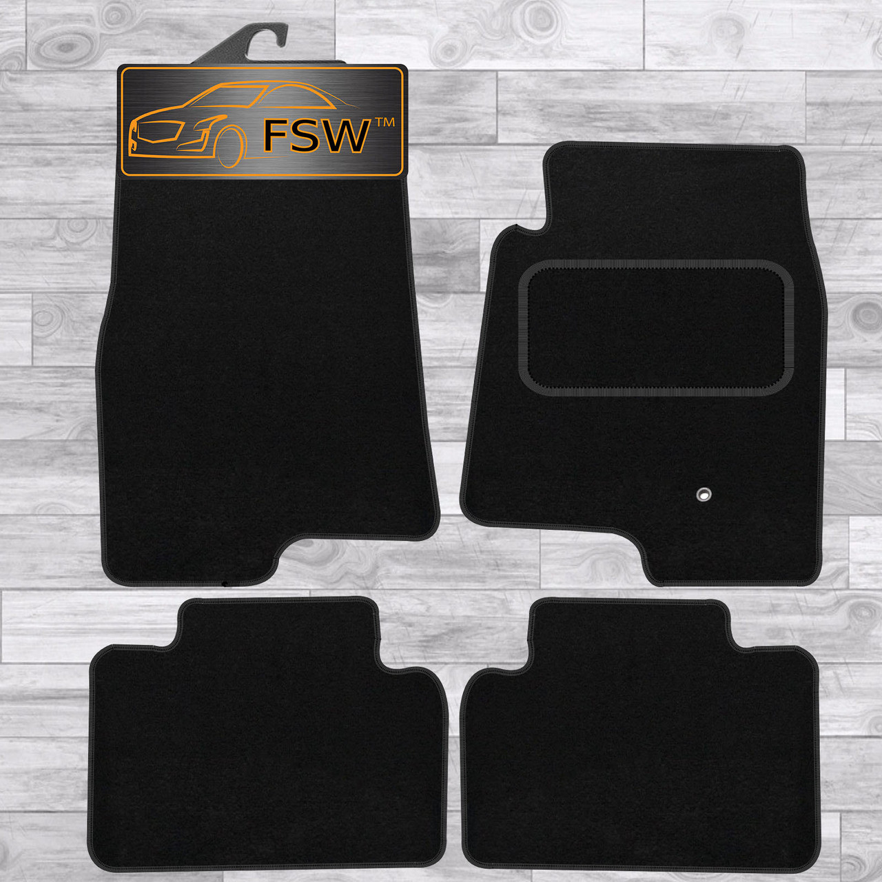 MITSUBISHI SHOGUN PAJERO SWB 92-00 Tailored Fitted Car Floor Mats Black Carpet