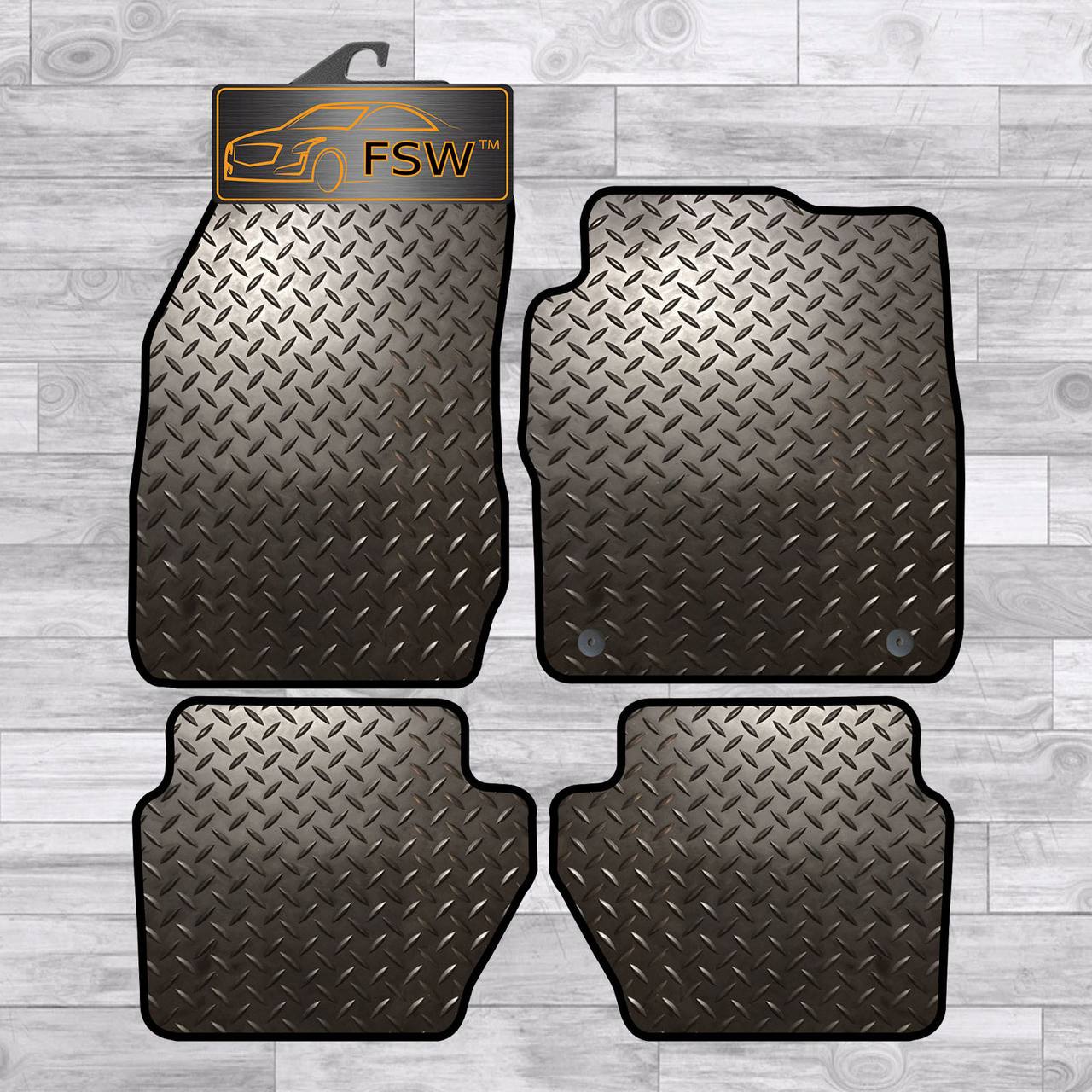 Rubber Ford Fiesta Tailored Car Mats From 2009-2011 Black