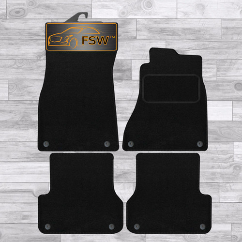 AUDI A7 2011 BLACK CARPET WITH BLACK EDGING FULLY TAILORED CAR MATS