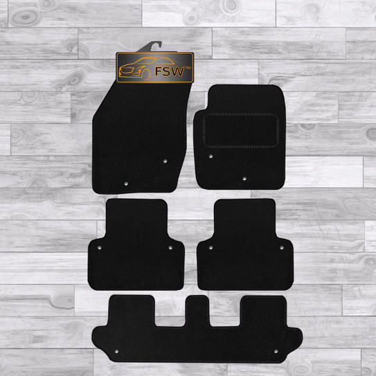 Volvo Xc90 03 14 5 Pce Set No Clips Fully Tailored Classic Car Floor Mats Black