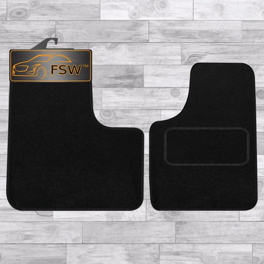 Vauxhall Vivaro Crew Cab 2001 to 2014 BLACK Tailored Carpet Car Mats