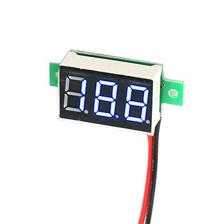 Digital Mini DC Voltage Monitor Red LED