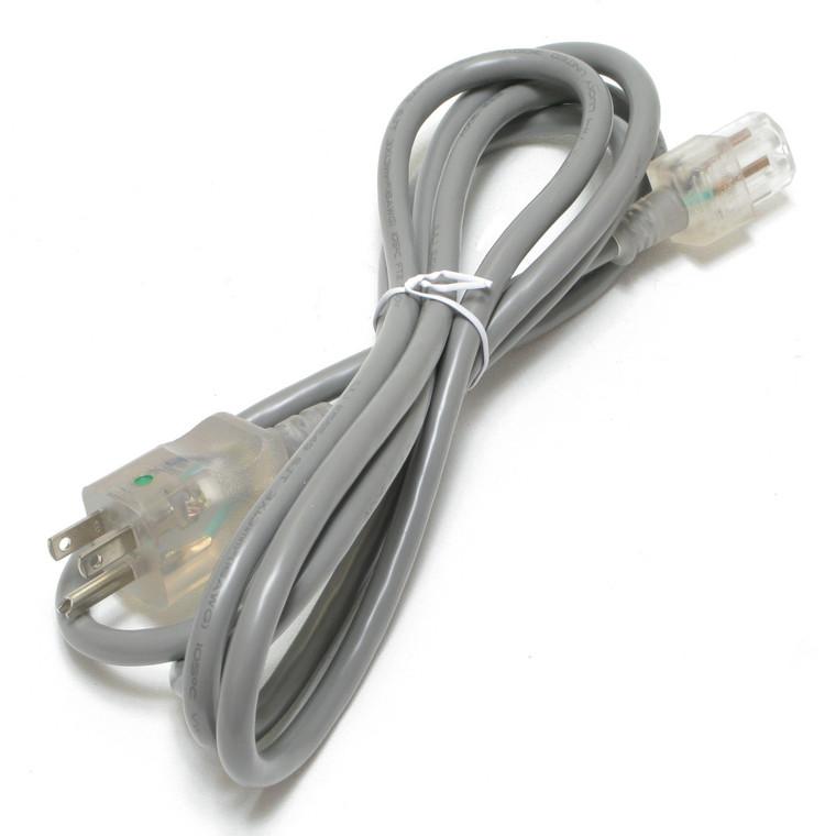 Hospital Grade IEC Power Cord, 16/3 SJT, 8 Foot