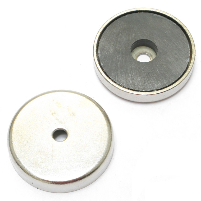 Donut Magnet with Protective Chrome Plated Metal Housing