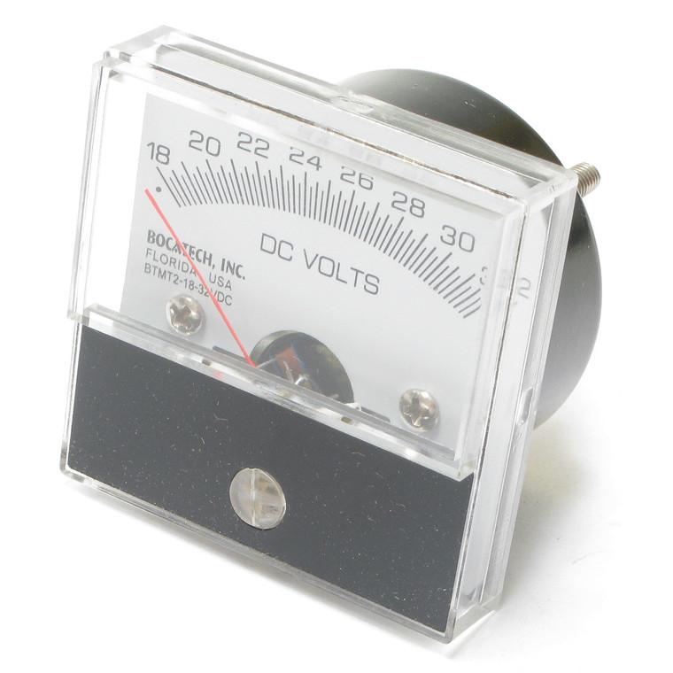 18 - 32 Volt DC Analog Panel Meter, 2 Inch