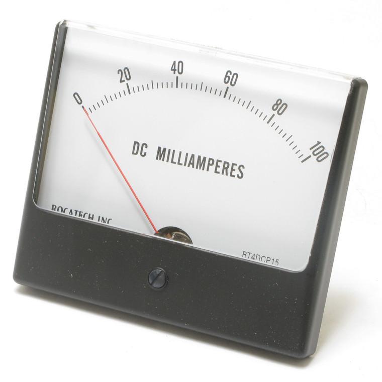 0 - 100 Milliampers DC, Panaview Analog Panel Meter, 4.5 Inch