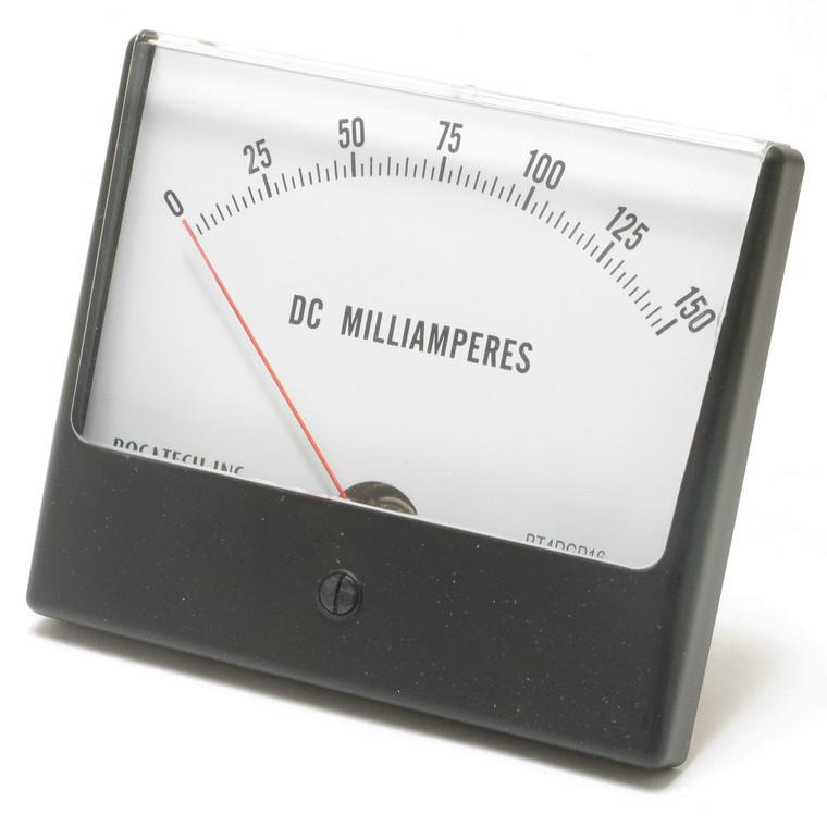 0 - 150 Milliampers DC, Panaview Analog Panel Meter, 4.5 Inch
