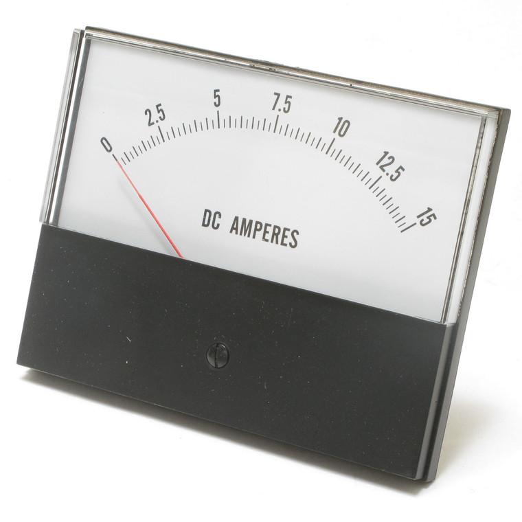0 - 15 Ampere DC Analog Panel Meter, 4.5 Inch