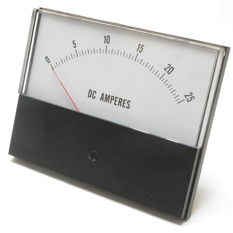 0 - 25 Ampere DC Analog Panel Meter, 4.5 Inch