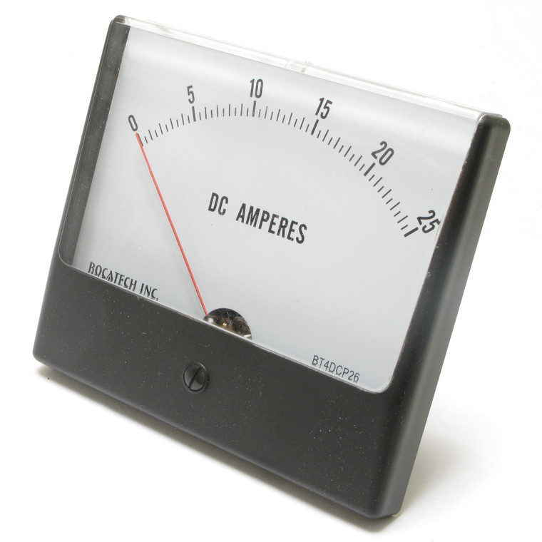 0 - 25 Ampere DC Panaview Analog Panel Meter, 4.5 Inch