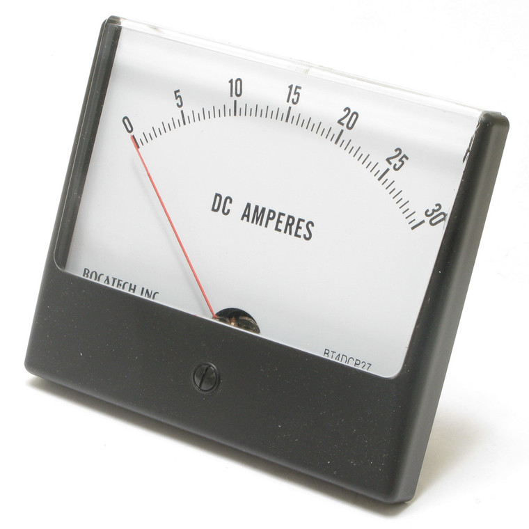 0 - 30 Ampere DC Panaview Analog Panel Meter, 4.5 Inch