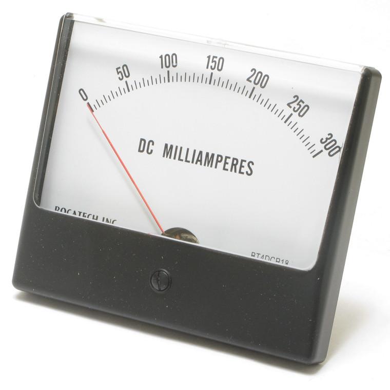 0 - 300 Milliampers DC, Panaview Analog Panel Meter, 4.5 Inch