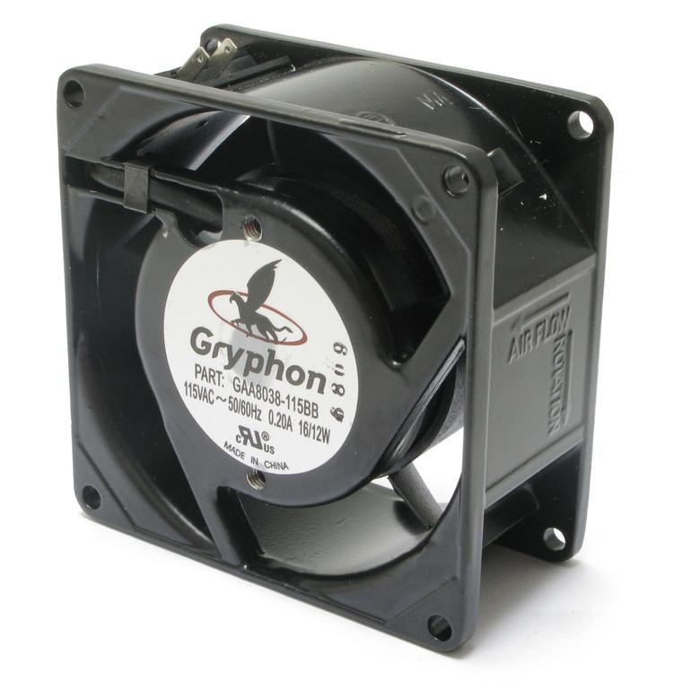 115 Volt AC, 80mm Axial Fan