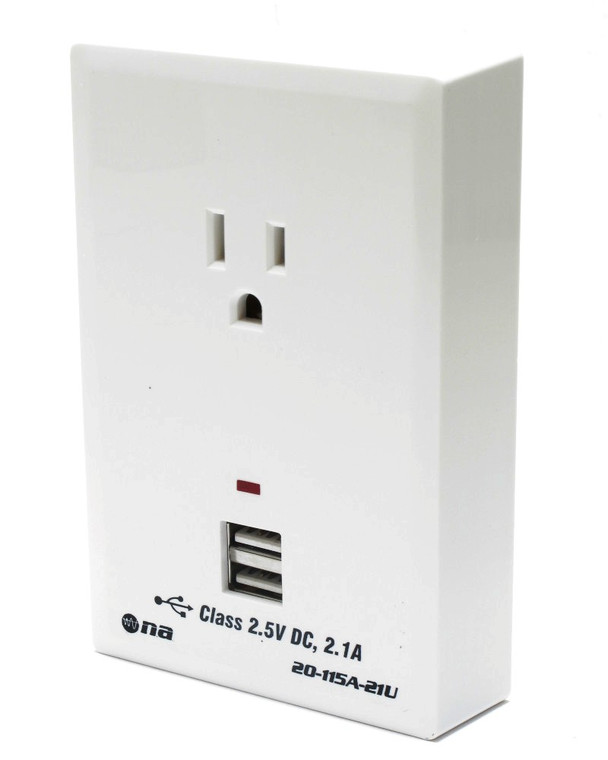 Wall Outlet Charging Center For USB Electronics