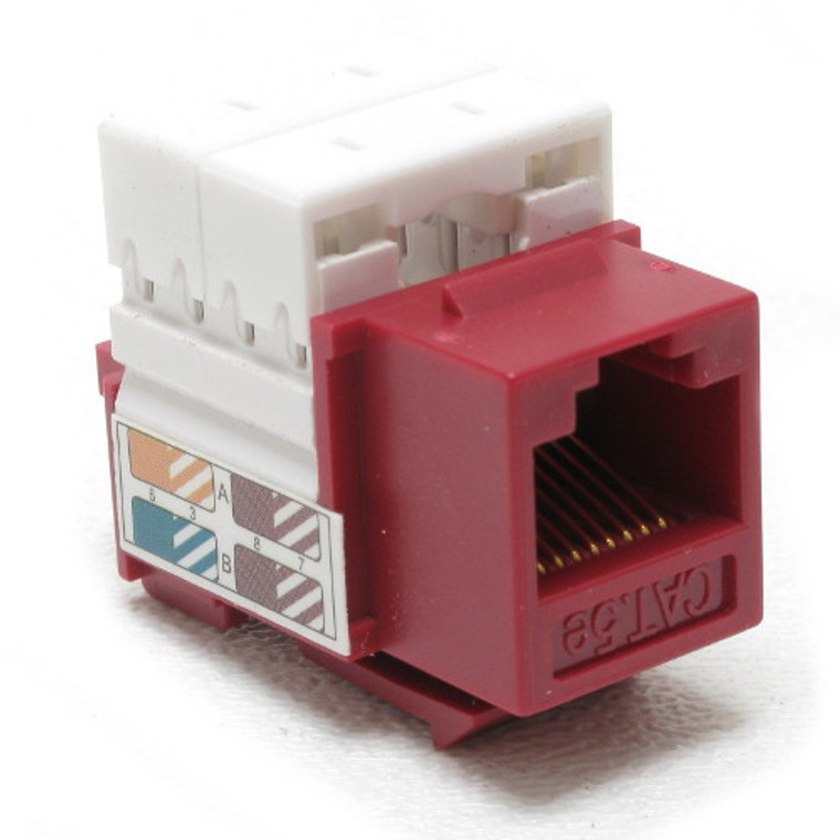 CAT 5e Keystone Jack Red