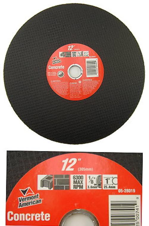 12 Inch Abrasive Cutting Blade Wheel for Cutting Masonry / Concrete