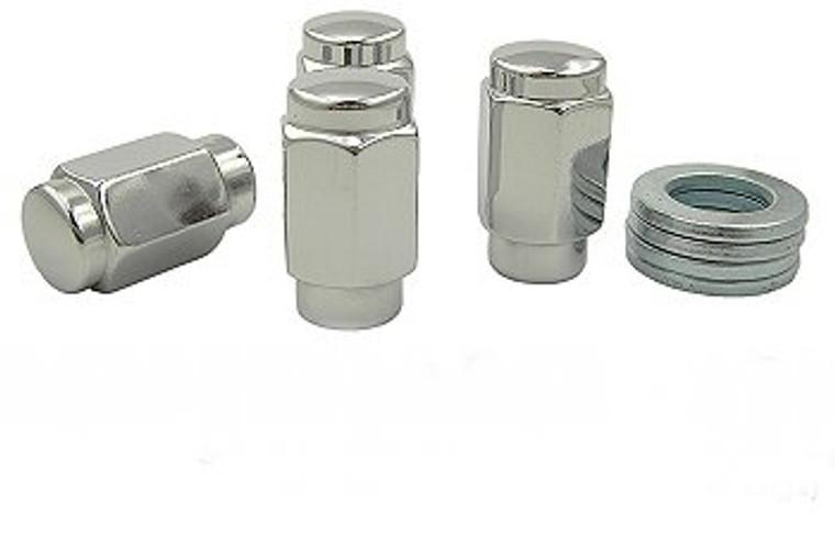 Chrome Plated 12mm X 1.25 Short Shank 3E Lug Nuts