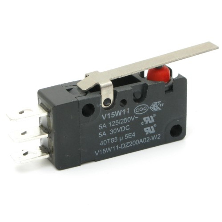 Watertight Miniature Snap Switch with Straight Lever SPDT