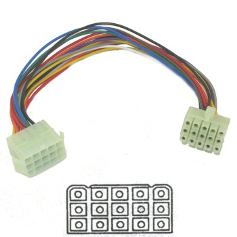 Molex-Style Mating Connector Set - 15 Pin