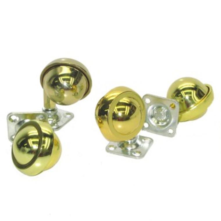 "Metal Ball Casters - Bright Brass  Diameter  2-1/2"" (64mm)"