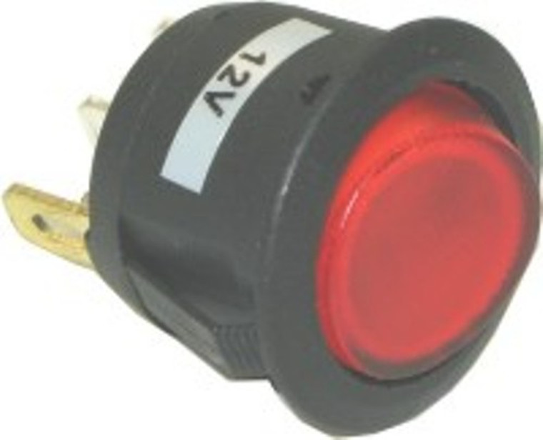 Lighted Rocker Switch  Color  Red