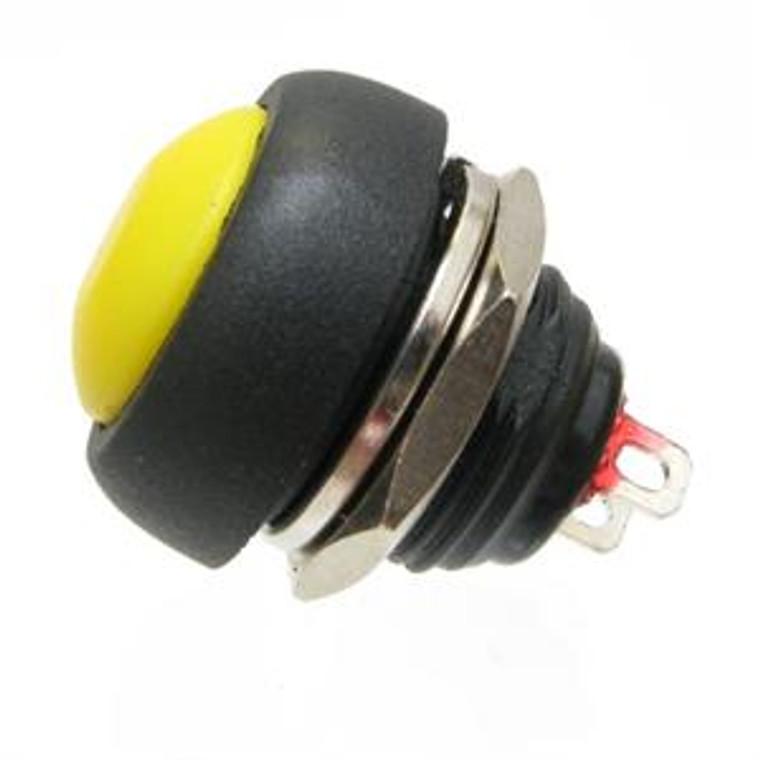 Miniature Yellow Push Button Switch SPST