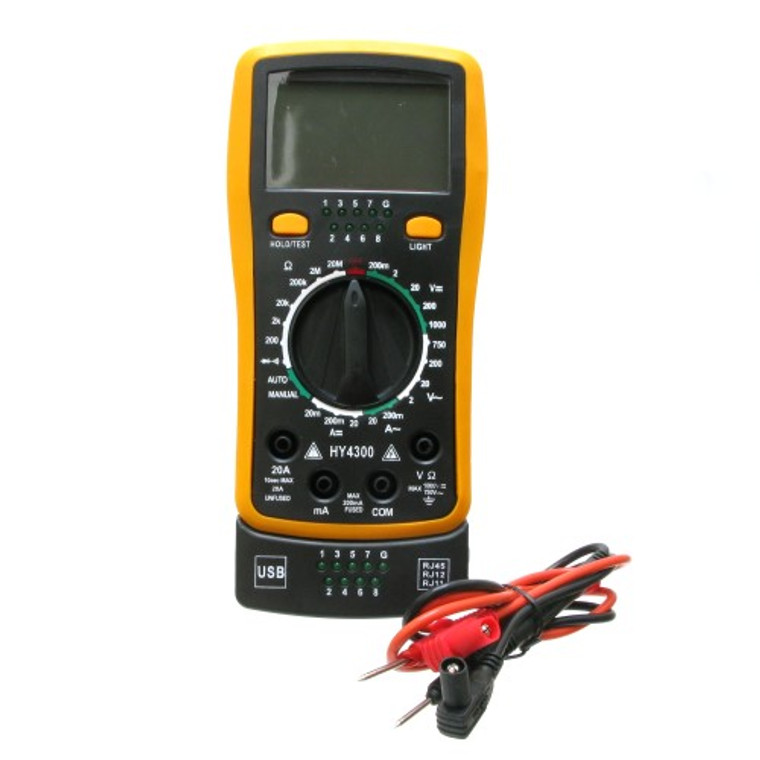 Digital Multimeter and Network Cable Tester