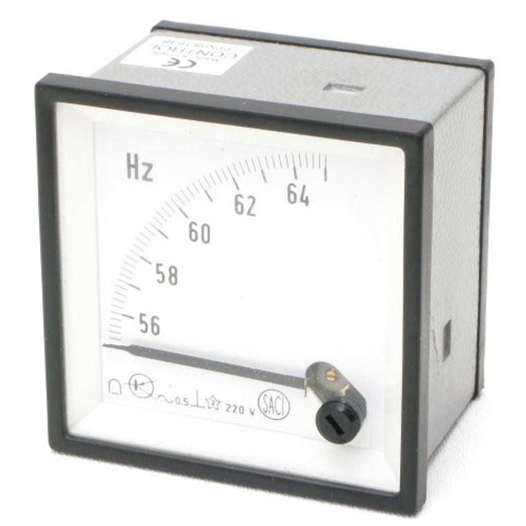 Pointer Frequency Meter 55-65 Hz 220 Volt AC