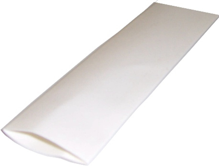 Heat Shrinkable Tubing 3/4 Inch x 4 Foot White