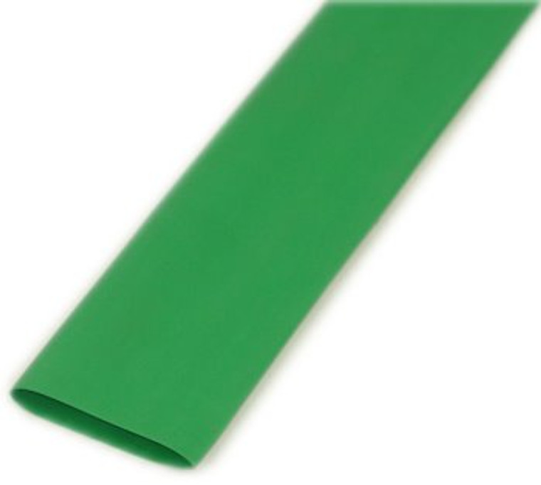 1 Inch Green Heat Shrink Tubing, shrinks to 1/2""