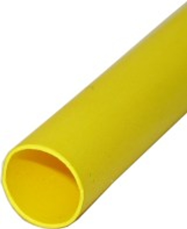 "1/2"" x 4 Foot Heat Shrink Tubing, Yellow"