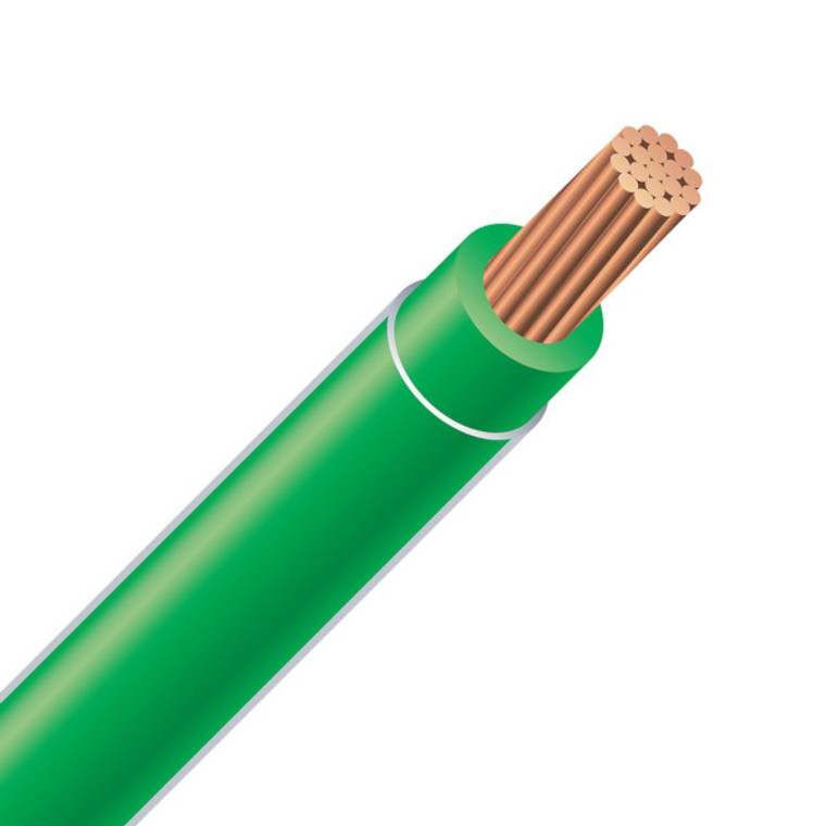 THHN Building Wire 2/0 Awg Green