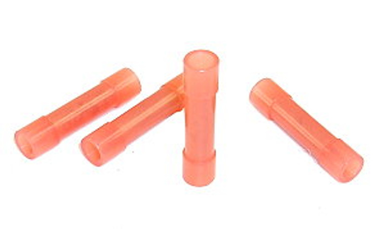 22 - 18 AWG Red Nylon Butt Splicer - 100 Pieces