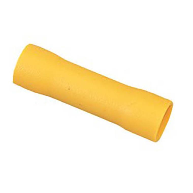10 - 12 AWG Yellow Vinyl Butt Splicer - 100 Pieces