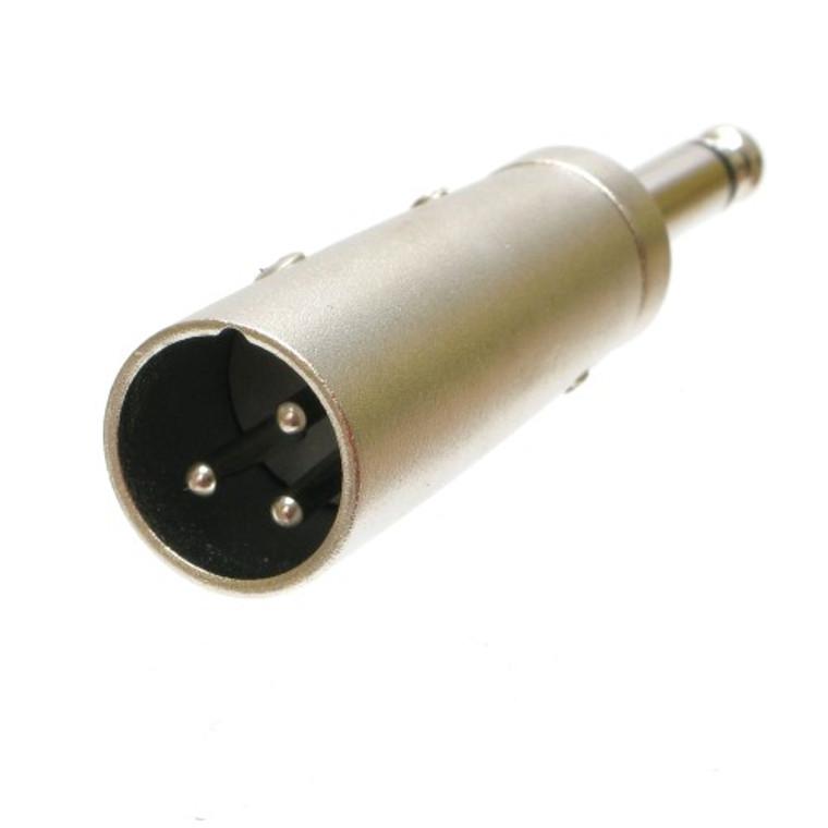 "Adapter 3 Pin XLR Male to 1/4"" Mono Male"