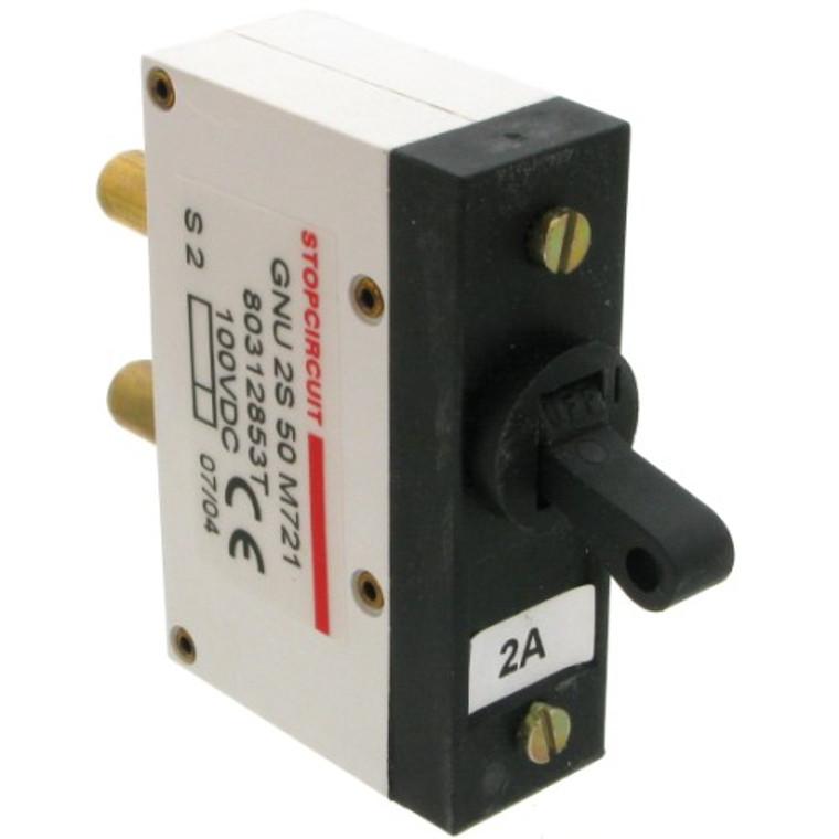 Circuit Breaker 100 VDC, 2 amp