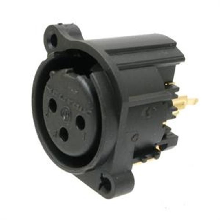 Neutrik PC-Mount 3 Pin XLR Connector - Female