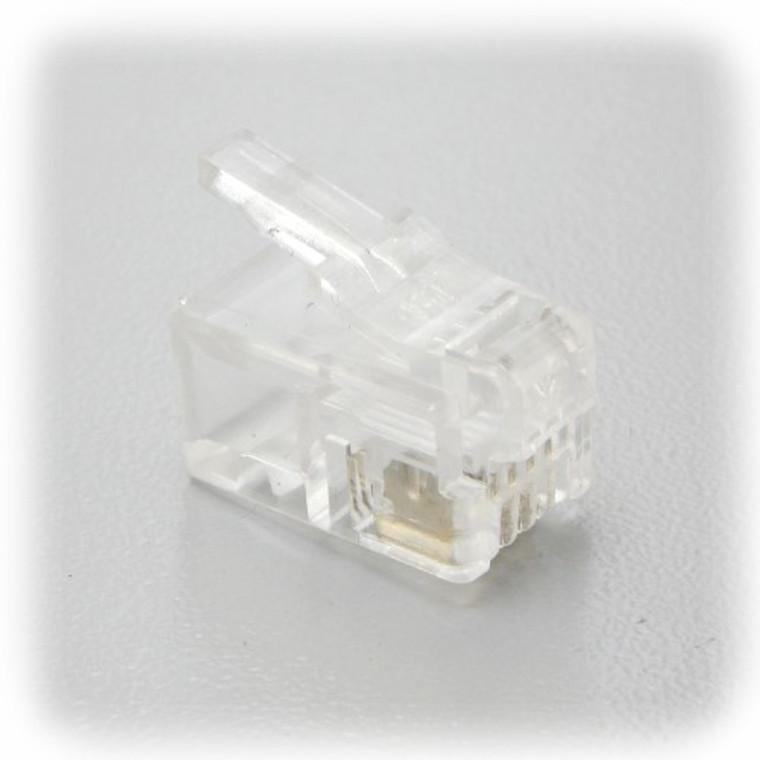 RJ11 Modular Handset Plugs/Connectors 100 pc