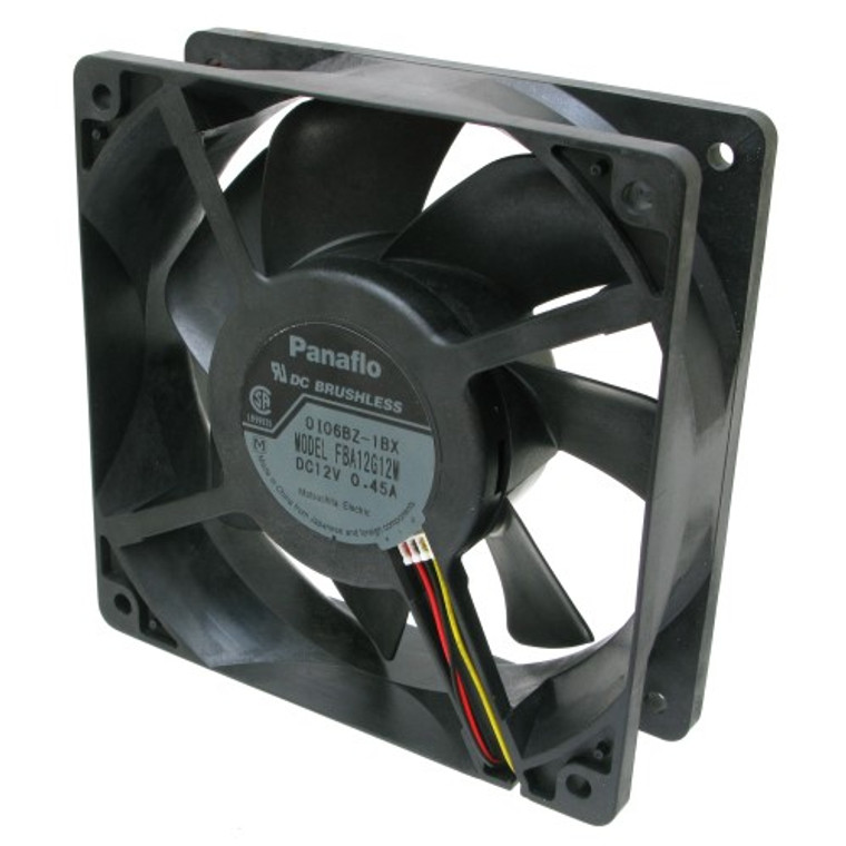 Panaflo Case Cooling Fan, 12 Volt DC, Medium