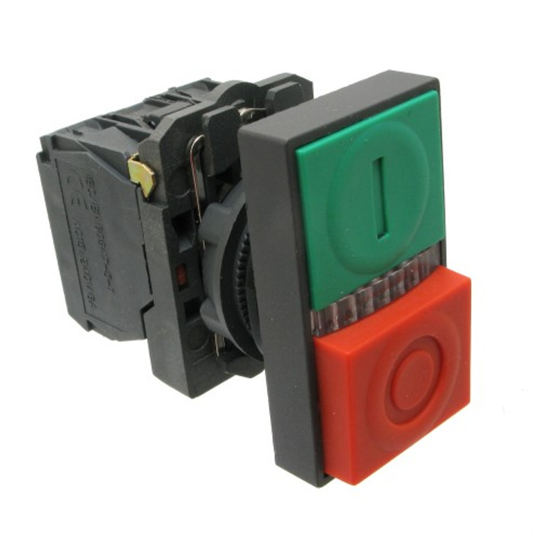 Double-Headed Push Button Switch, Momentary with LED Light