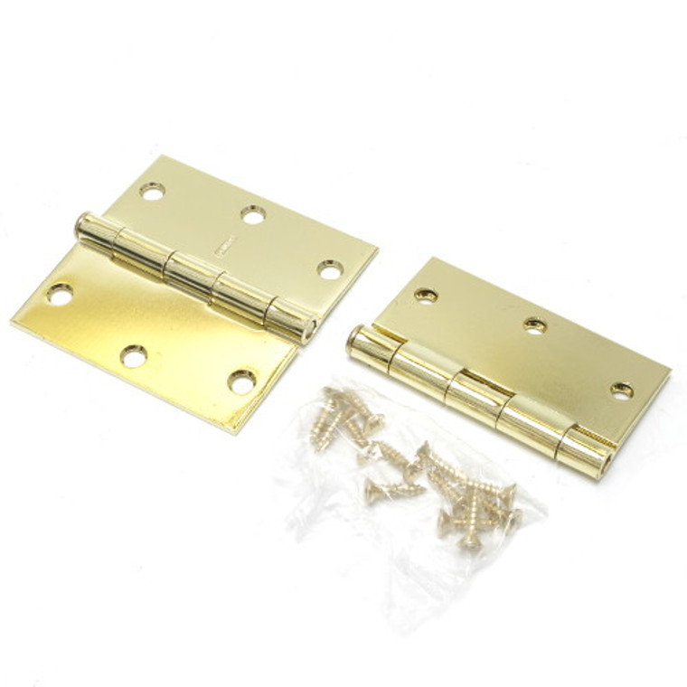 Door Hinge Brass Plated 3.5 Inch
