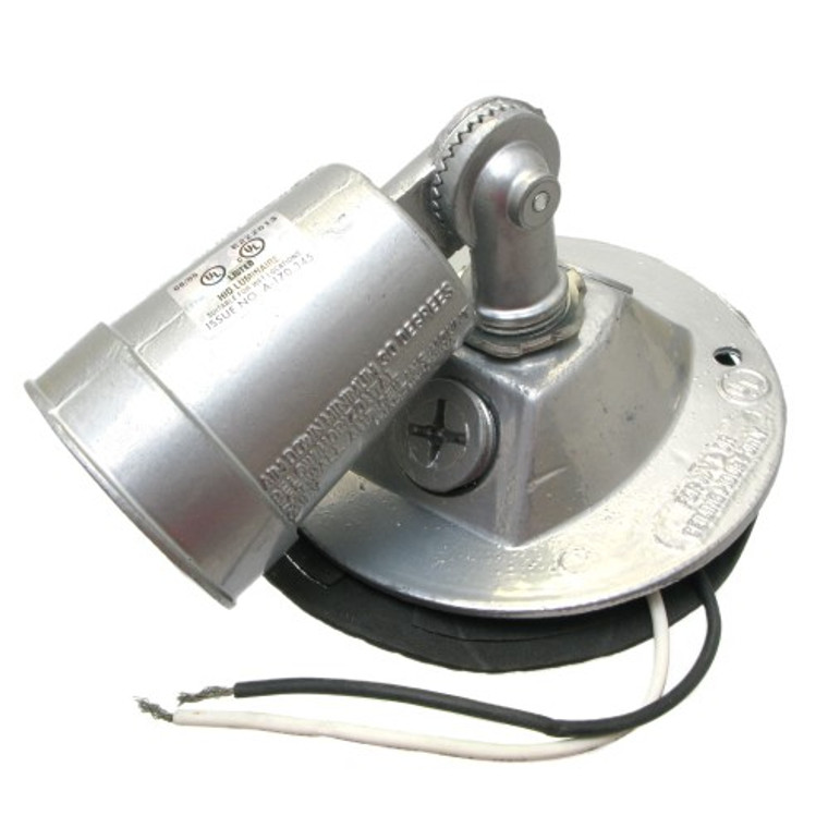 "Lamp Holder, Single, Weatherproof , 4"" Round, Off White"