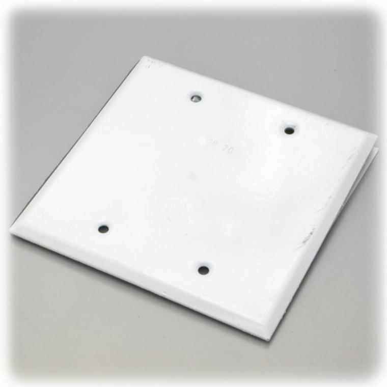Weatherproof 2 Gang Blank Cover White
