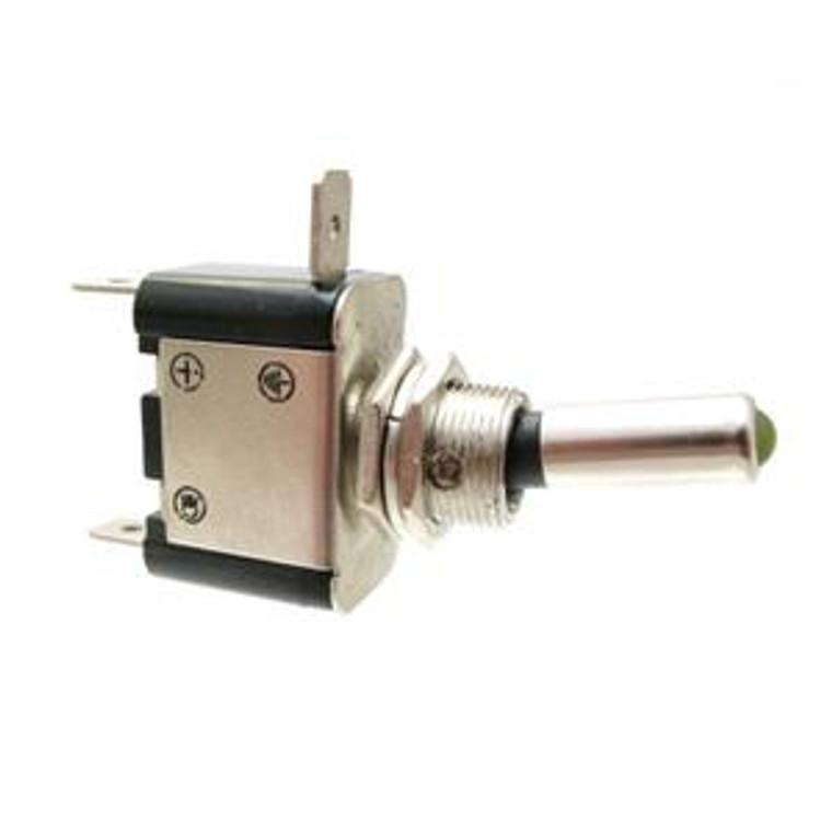 LED Illuminated Toggle Switch Amber SPST 25 Amp 12 Volt