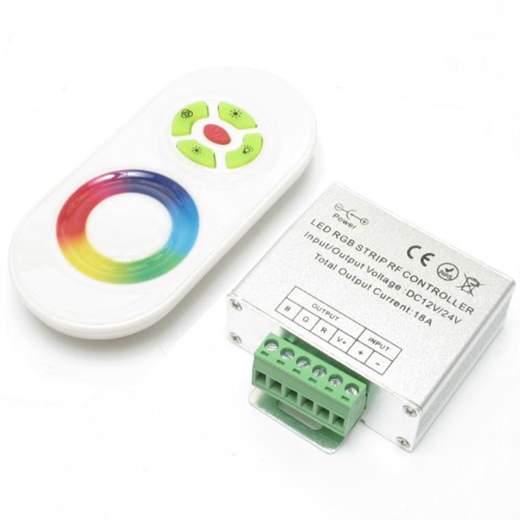 RF Wireless RGB LED Remote Control White