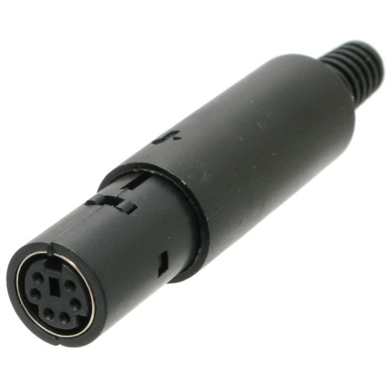 Mini-DIN 6-Pin Female In-Line Socket Connector