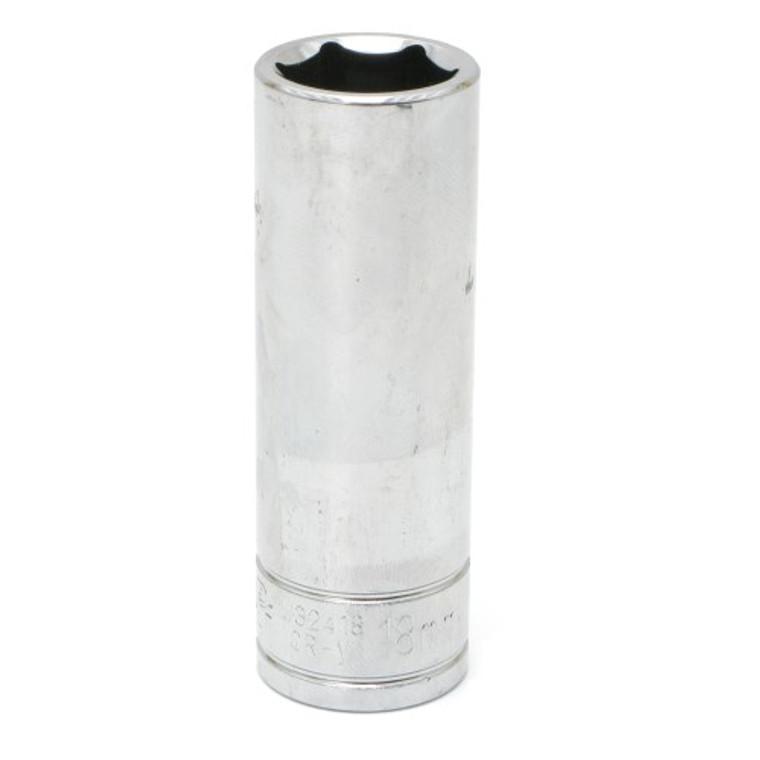 18mm Metric Deep Socket 1/2 Inch Drive