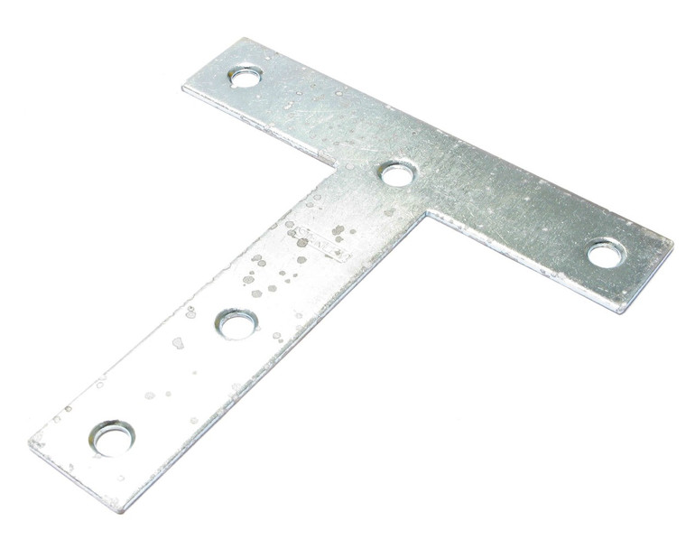 T Plate, Zinc Plated Steel, 5 Inch x 5 Inch