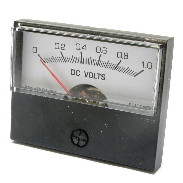 0 - 1 Volt DC Analog Panel Meter, 2 Inch Meter